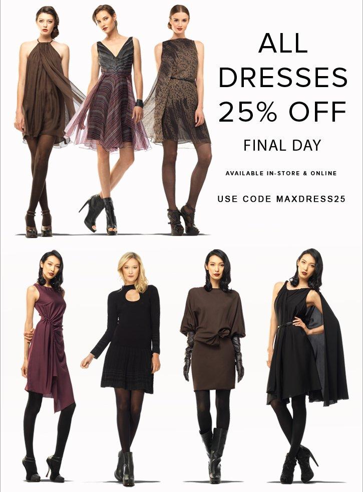 25% Off All Dresses