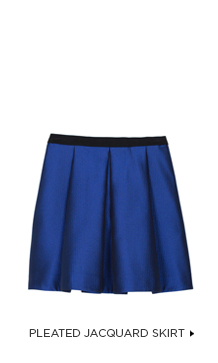 Simona Jacquard Pleated Skirt