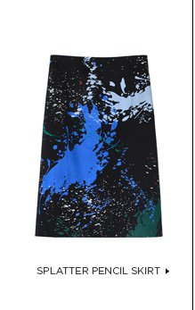 Splatter Pencil Skirt