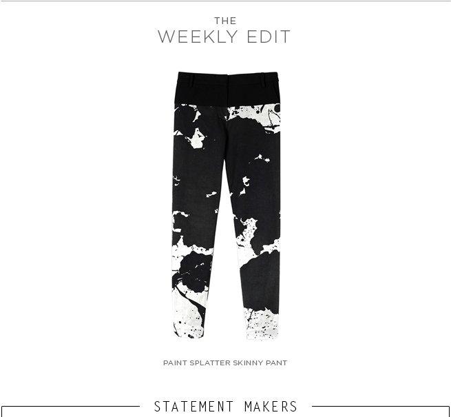 Paint Splatter Skinny Pant
