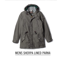 Mens Sherpa Lined Parka