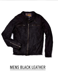 Mens Black Leather