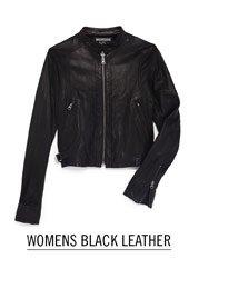 Womens Black Leather