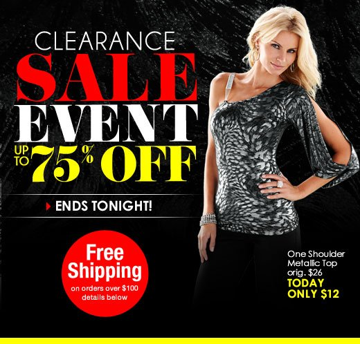 Sunday 1-Day Clearance SALE! Up to 75% OFF!