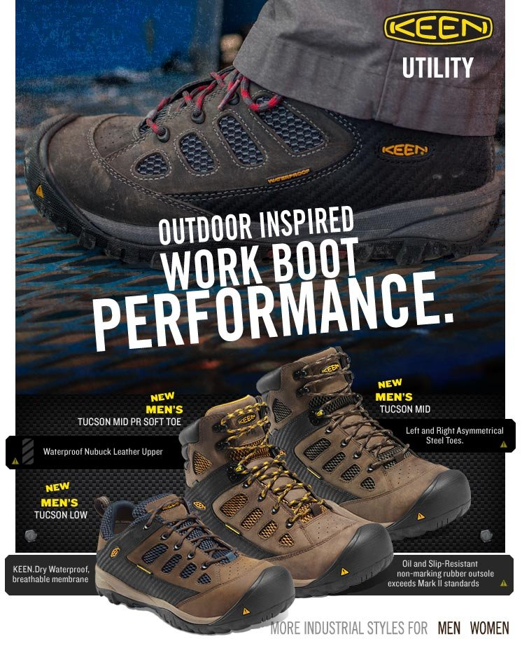 Outdoor Inspired Work Boot Performance