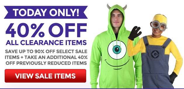 Today Only: 40% Off All Clearance Items