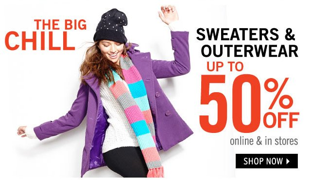 Sweaters & Outerwear up to 50% OFF online & in stores