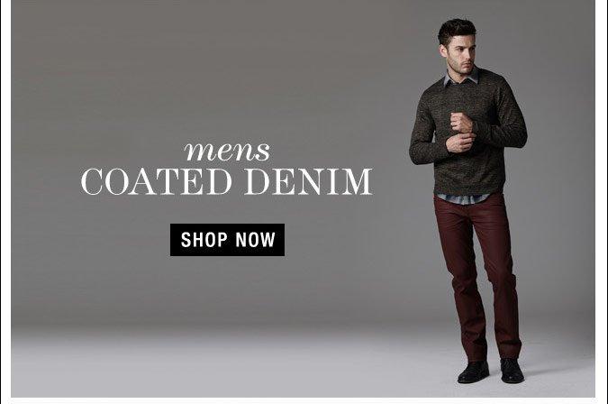 Mens Coated DEnim - Shop Now