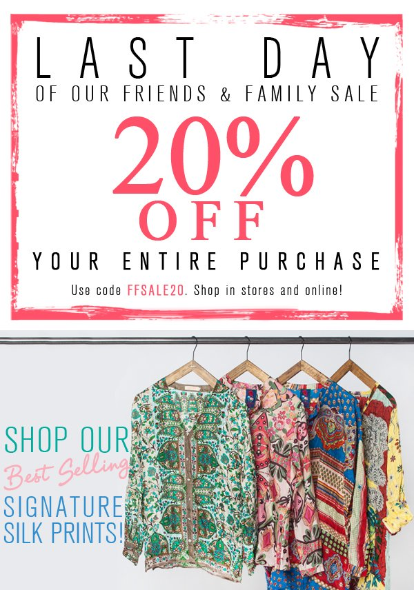 last day of 20% off!