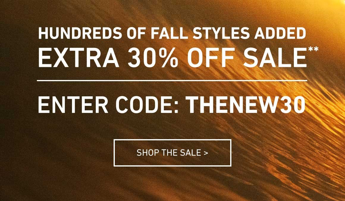 Extra 30% Off Sale! Enter Code: THENEW30