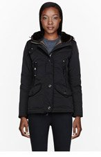PARAJUMPERS Black Down Hooded Arches Jacket for women