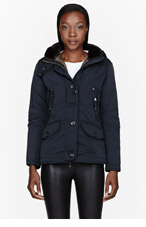 PARAJUMPERS Navy Down Hooded Arches Jacket for women