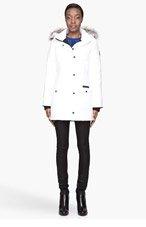 CANADA GOOSE White fur-trimmed Trillium Parka for women