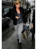 """Current Elliott The Stiletto in Gray Leopard as Seen On Kate Moss, Katie Holmes and More"""