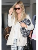 Free People Turn up the Sun Toggle Coat in Oatmeal as seen on Ashley Tisdale