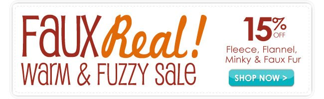15% off WarM and Fuzzy Sale