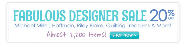 20% Off Fabulous Designer Sale