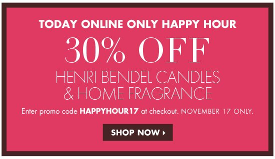 30% OFF HOME FRAGRANCE AND CANDLES