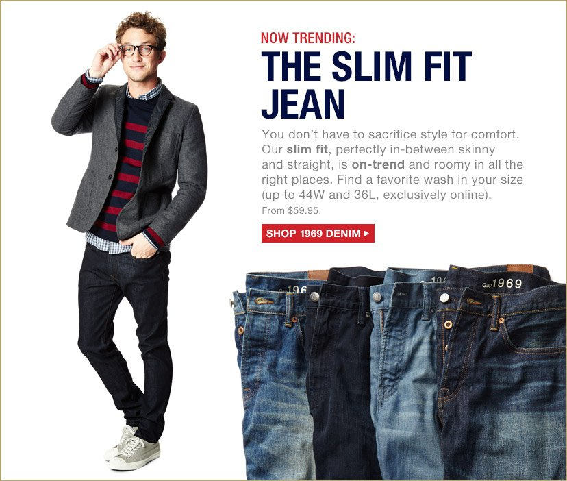 NOW TRENDING: THE SLIM FIT JEAN | SHOP 1969 DENIM
