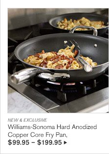 NEW & EXCLUSIVE -- Williams-Sonoma Hard Anodized Copper Core Fry Pan, $99.95 - $199.95