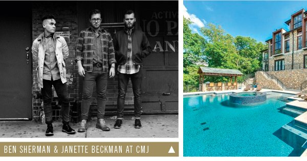 Ben Sherman & Janette Backman at CMJ | Inside Jared Followills' Maison