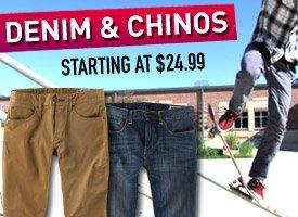 Pants starting at $24.99