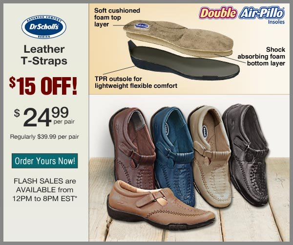 $15 OFF Leather T-Straps