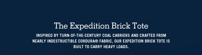 The Expedition Brick Tote.
