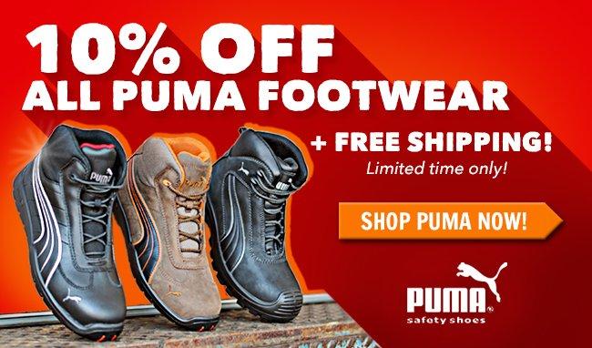 Save 10% On All Puma Footwear