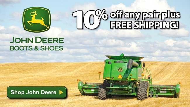 Save 10% On All John Deere Footwear