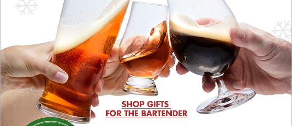 HOLIDAY SPIRIT GIVE THE GIFT OF CHEER SHOP GIFTS FOR THE BARTENDER