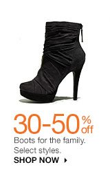 30-50% off Boots for the family. Select styles. SHOP NOW