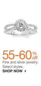 55-60% off Fine and silver jewelry. Select styles. SHOP NOW