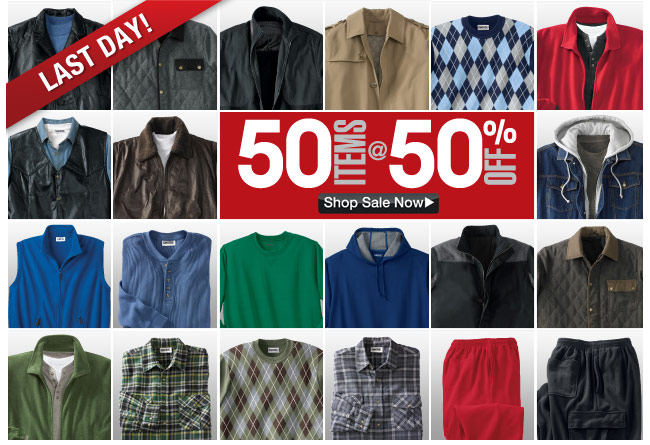 last day - 50 items at 50 percent off - click the link below