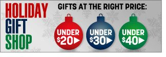 holiday gift shop - gifts at the right price - under $20, $30 and $40 - click the link below