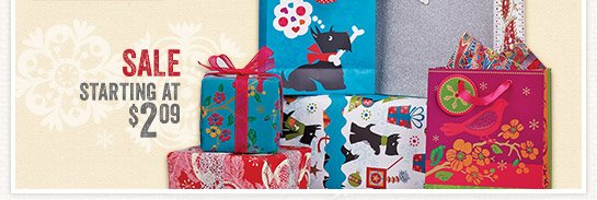 Save 30% on All Holiday Paper