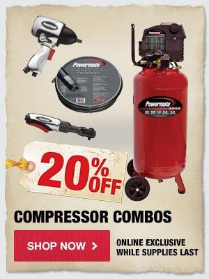20% OFF Compressor Combos