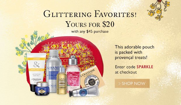 Sparkling Offer $20 with any $25 purchase use code Sparkle