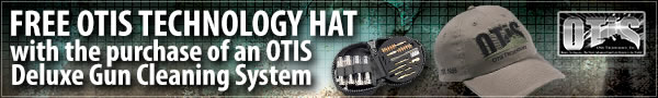 Free Hat with the purchase of an OTIS gun cleaning system