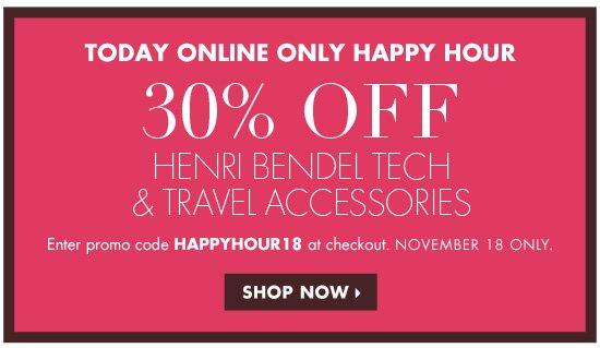 30% OFF HAPPY HOUR