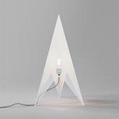 Rocket Floor Lamp/Sculpture  White, L