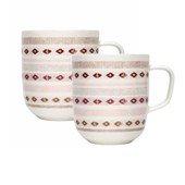 Sarjaton Mug, Red, Set of 2