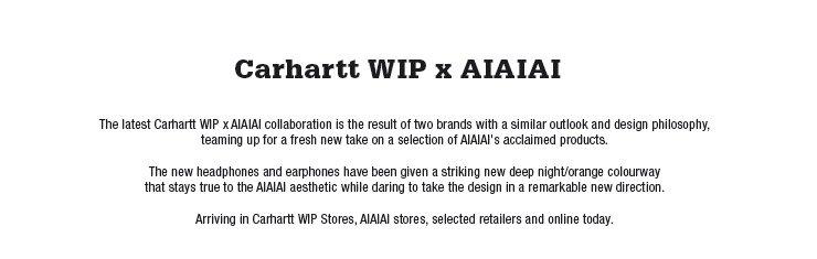 The latest Carhartt WIP x AIAIAI collaboration