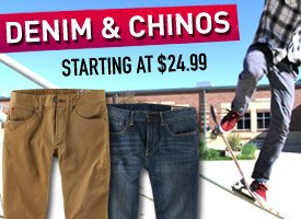 Pants starting at $24.99