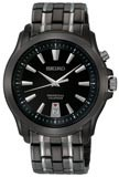 Seiko SNQ121 Men's Two Tone Black IP Plated Perpetual Calendar Watch