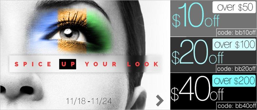 Over $50 - $10 off coupon: bb10off | Over $100 - $20 off coupon: bb20off | Over $200 - $40 off coupon: bb40off