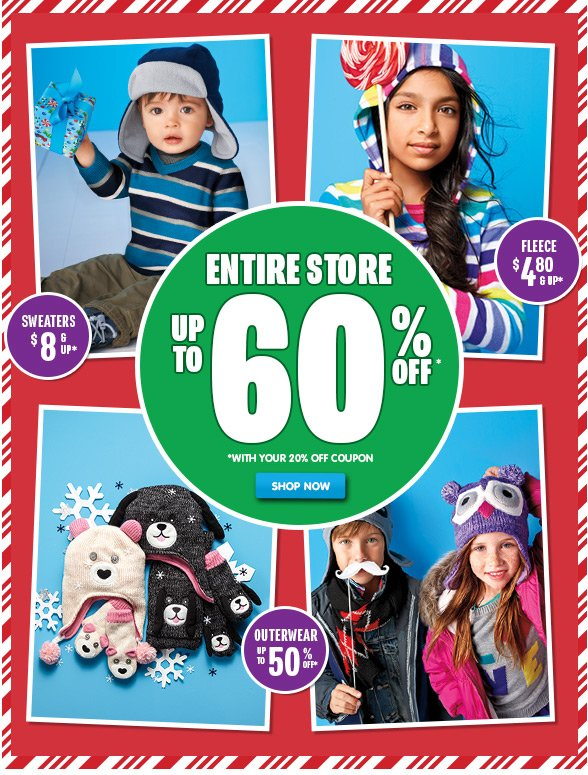 Up to 60% Off Entire Store!