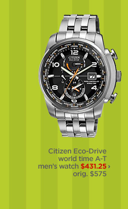 Citizen Eco-Drive world time A-T men's watch $431.25 ›  orig. $575