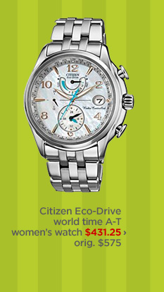 Citizen Eco-Drive world time A-T women's watch $431.25 ›  orig. $575