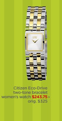 Citizen Eco-Drive two-tone bracelet women's watch $243.75  › orig. $325
